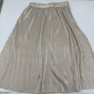 WhoWhatWear Long Gold Skirt